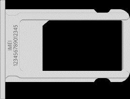 iPhone 7/7 plus Plus IMEI number embossed on SIM tray